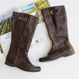 Nine West Tellmeallo Browm Leather Riding Boots
